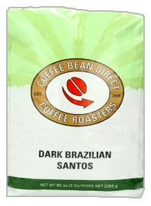 Coffee Bean Direct  Dark Brazilian Santos Coffee